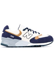 New Balance 999 Sneakers Men Cotton Leather Suede Rubber 8 White