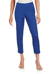 Lafayette 148 New York Straight Leg Cropped Pants Cobalt
