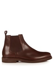 A.P.C. Grant Leather Chelsea Boots Brown