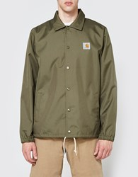 Carhartt Watch Coach Jacket In Rover Green Broken White
