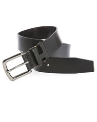 Hackett Black Leather Belt
