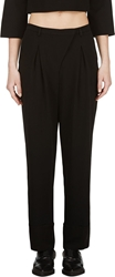 Cnc Costume National Black Pleated Straight Trousers