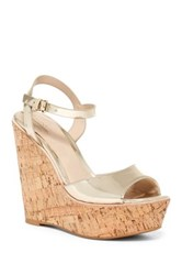 Aldo Aralinna Wedge Sandal Metallic