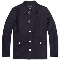 Nigel Cabourn X Lybro Short Work Jacket Dark Navy Harris Tweed