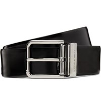 Dolce And Gabbana 3.5Cm Black Polished Leather Belt Black