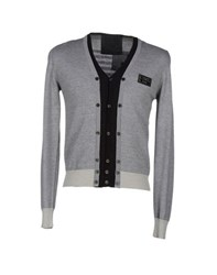 Philipp Plein Homme Knitwear Cardigans Men Grey