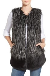 Parkhurst Two Tone Faux Fur Vest Black