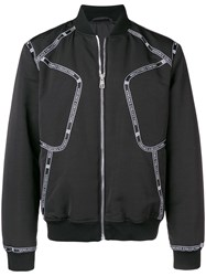 Versace Collection Zipped Bomber Jacket Black