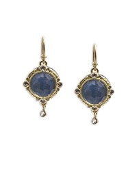Armenta 18K Yellow Gold And Blackened Sterling Silver Old World Blue Quartz Triplet White Sapphire And Diamond Drop Earrings 100 Exclusive Blue Gold