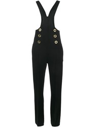 Chloe Dungaree Jumpsuit Black