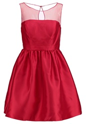 Adrianna Papell Mikado Cocktail Dress Party Dress Red