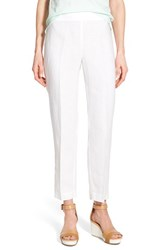 Eileen Fisher Women's Organic Linen Slim Ankle Pants White