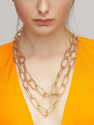 Federica Tosi Lace Long Bolt Adjustable Necklace Gold
