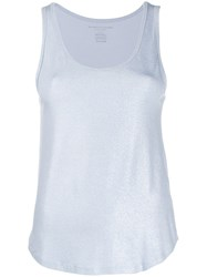 Majestic Filatures Metallic Jersey Tank Blue