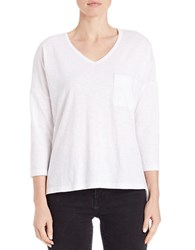 Lord And Taylor Petite Pullover Dolman Tee White