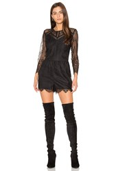 Greylin Shirley Lace Romper Black