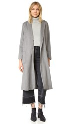 Cupcakes And Cashmere Levin Long Melton Duster Coat Heather Grey