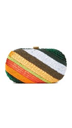 Santi Rainbow Stripe Clutch Multi