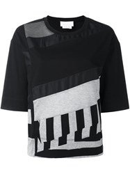 Dkny Panelled Short Sleeve T Shirt Black