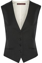 Stella Mccartney Daisy Wool Twill Vest Black