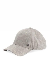 Ben Sherman Chambray Cotton Baseball Cap Black