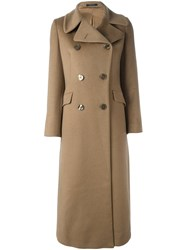 Tagliatore 'Britta' Long Coat Nude And Neutrals