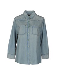 Sandrine Rose Denim Shirts Blue