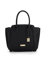 Catherine Malandrino Rose Faux Leather Tote Black