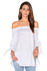 Tibi Off The Shoulder Tunic White