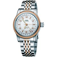 Oris 01 754 7543 4361 07 8 20 63 Men's Big Crown Pointer Two Tone Bracelet Strap Watch Silver Rose Gold