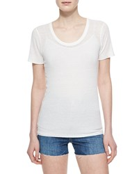 Alexa Chung For Ag The Perfect Ribbed Tee White