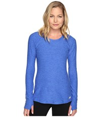 New Balance In Transit Long Sleeve Top Bluefin Heather Women's Long Sleeve Pullover
