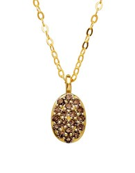 Lord And Taylor Diamond 14K Yellow Gold Oval Pendant Necklace