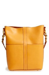 Frye Ilana Leather Bucket Hobo Yellow