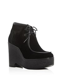 Robert Clergerie Bora Platform Wedge Booties Black