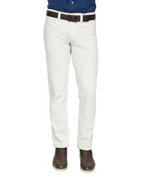 Loro Piana Five Pocket Stretch Denim Jeans Cream