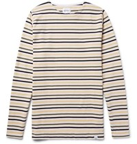 Norse Projects Godtfred Slim Fit Striped Cotton T Shirt Cream