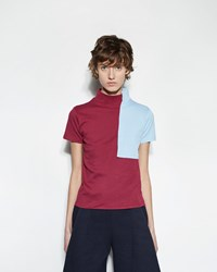 Jacquemus Le T Shirt Col Carre Red Blue