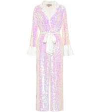 Temperley London Bia Sequined Jumpsuit Pink