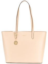 Dkny Classic Shopper Tote Leather Nude Neutrals