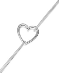 Giani Bernini Heart Chain Bracelet In Sterling Silver