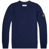 Stone Island Lambswool Detail Crew Knit Royal