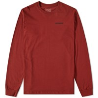Patagonia Long Sleeve P6 Logo Tee Red