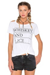 Chaser Whiskey And Lace Tee White