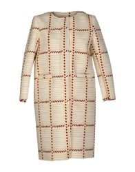 Douuod Coats And Jackets Full Length Jackets Women Beige