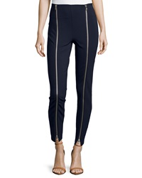 Romeo And Juliet Couture Zip Front Ankle Pants Navy