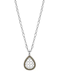 Dot Teardrop Pendant Necklace John Hardy Silver