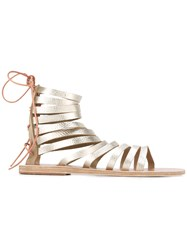 Ancient Greek Sandals Caged Metallic