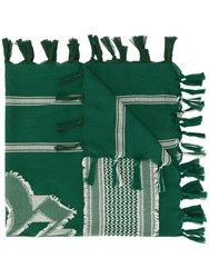 Undercover Patterned Scarf Green