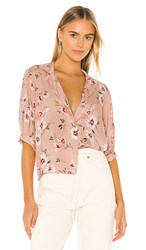 Velvet By Graham And Spencer Kaden Blouse In Pink. Tahiti Pink